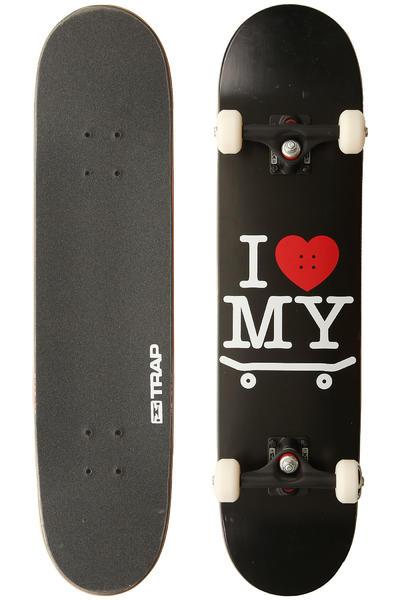 "Trap Skateboards I Love My Board 7.625"" Complete-Board (black)"