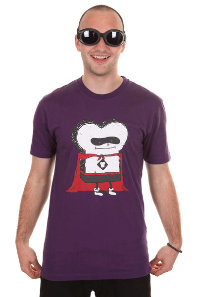 Cleptomanicx Super Toast T-Shirt (purple)