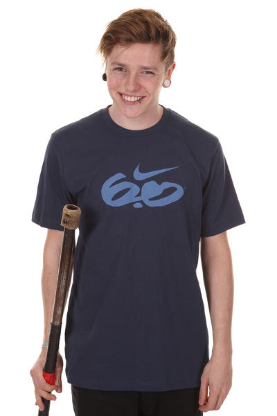 Nike SB Icon Standard Logo T-Shirt (midnight navy signal blue)