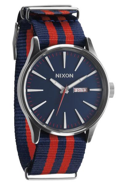 Nixon The Sentry Watch (navy red nylon)