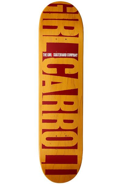 """Girl Carroll Big Girl Invert 7.625"""" Deck (yellow)"""