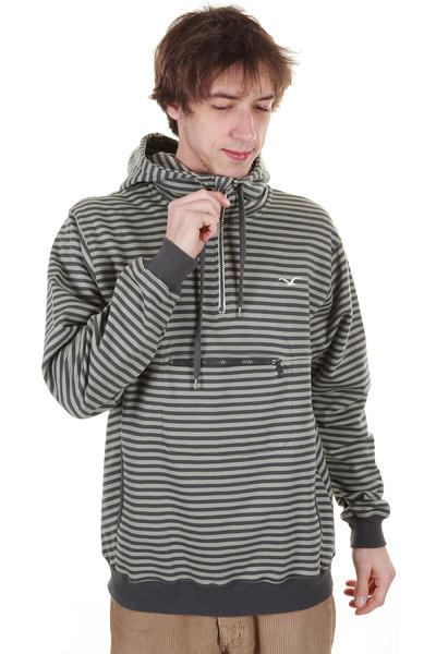 Cleptomanicx Ministripe Hoodie (dark grey)