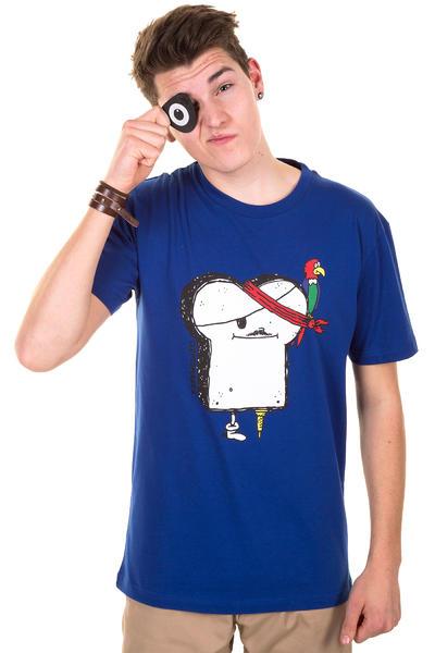 Cleptomanicx Piraten Toast T-Shirt (soda blue)