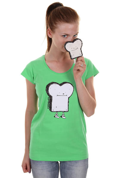 Cleptomanicx Toast Scoop T-Shirt women (spring bouqet)