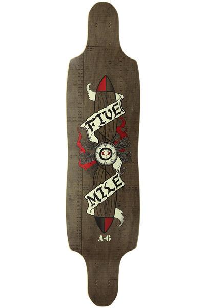 "Five Mile A-6 Intruder 9.75"" x 38"" Longboard Deck"