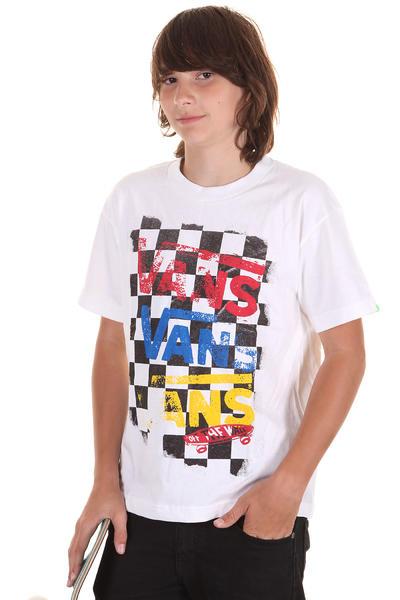 Vans Flying V Checker T-Shirt kids (white)