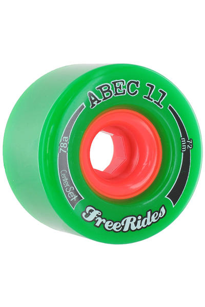 ABEC 11 Centerset Freeride 72mm 78A Rollen (green) 4er Pack