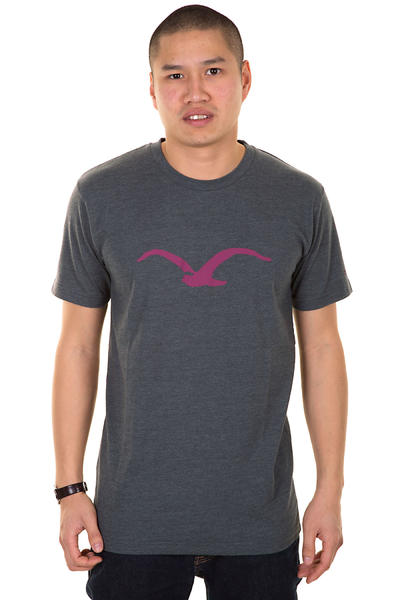 Cleptomanicx Möwe T-Shirt (heather dark grey)
