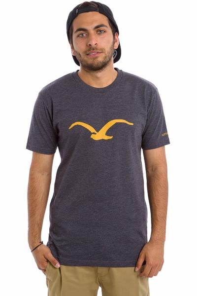 Cleptomanicx Möwe T-Shirt (heather dark navy)