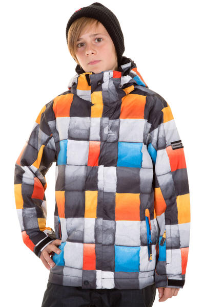 Quiksilver Mission Printed Snowboard Jacke kids (redemption check blue)