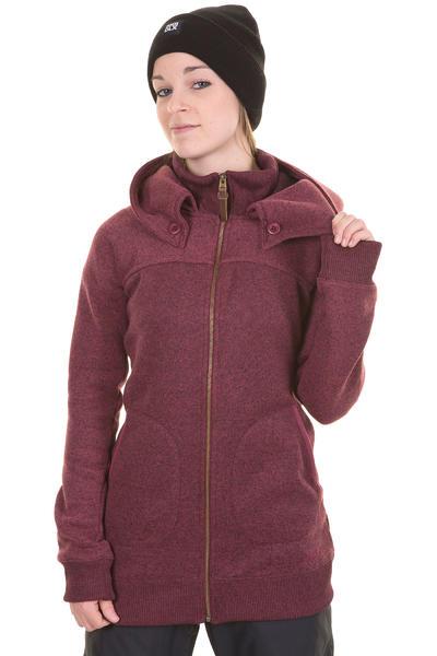 Burton Minx Fleece Snow Zip-Hoodie women (sangria heather)