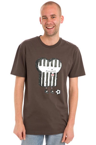 Cleptomanicx St. Pauli Toasthüter T-Shirt (st. pauli brown)