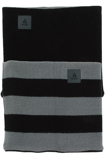 Anuell Tahko Reversible Stripe Neckwarmer (black grey)