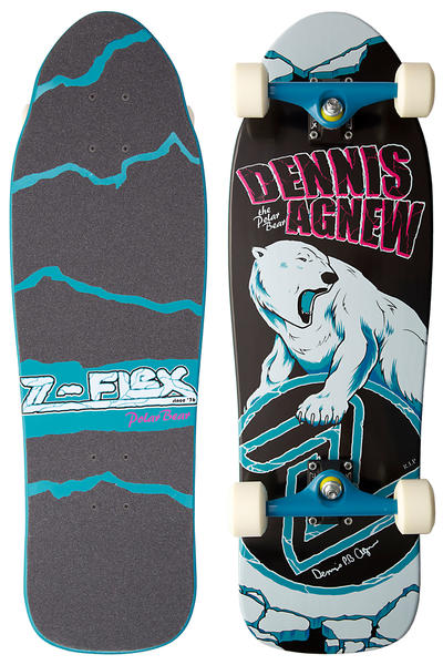 "Z-Flex Dennis ""Polar Bear"" Agnew Z-Boys Series Cruiser (black white blue)"