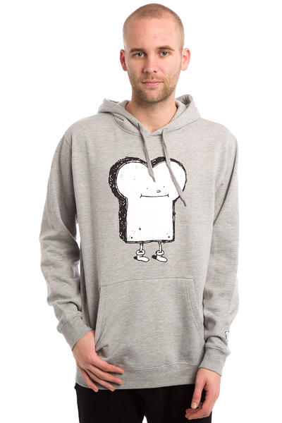 Cleptomanicx Toast Hoodie (heather grey)