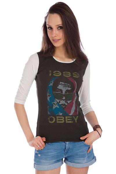 Obey American Wasteland Longsleeve women (jet black bone white)