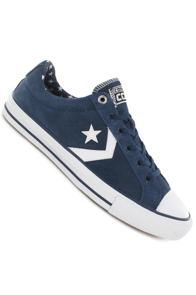 Converse Star Player Skate Ox Suede Schuh (ensign blue white)