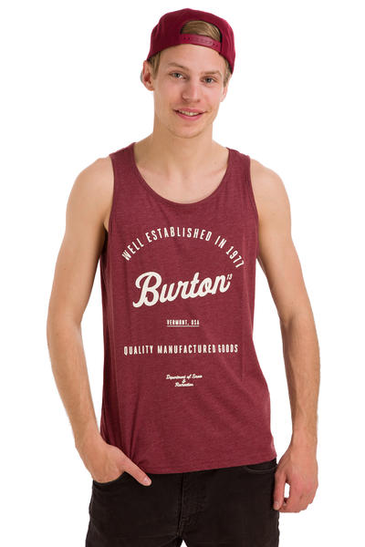Burton Quality Goods Tank-Top (heather oxblood)