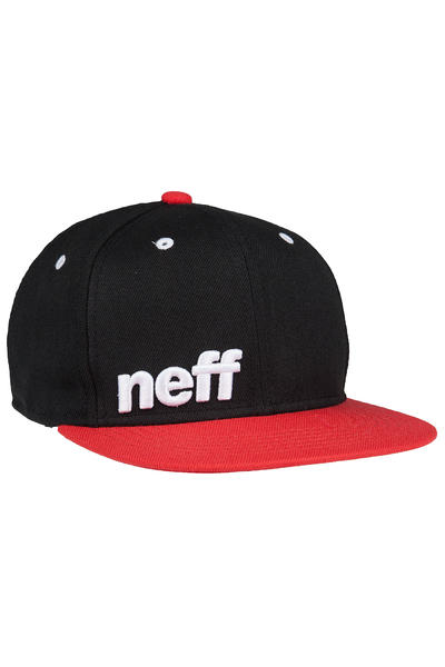 Neff Daily Snapback Cap (black red white)