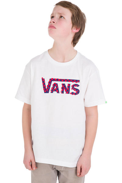 Vans Checker Classic T-Shirt kids (white navy)
