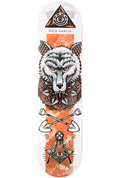 "Element Garcia In Bloom 7.75"" Deck (white orange)"
