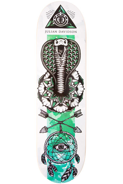 """Element Davidson In Bloom 8.5"""" Deck (white green)"""