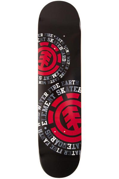 """Element Dispersion 7.5"""" Deck (black red)"""