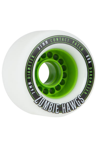 Hawgs Zombies 76mm 80A Wheel 2014 (white) 4 Pack