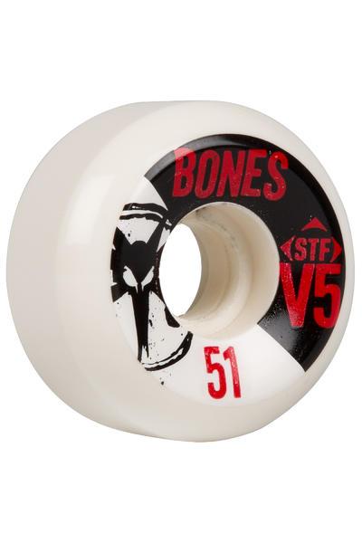 Bones STF-V5 Series 51mm Rollen 4er Pack (white black)