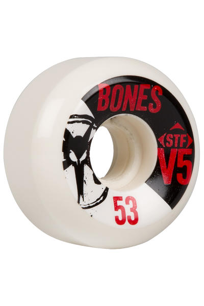 Bones STF-V5 Series 53mm Rollen 4er Pack  (white black)