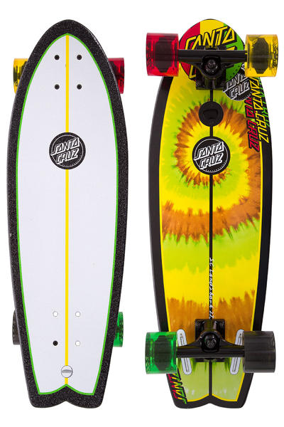 "Santa Cruz Land Shark 8.8"" x 27.7"" Cruiser (rasta tye dye)"