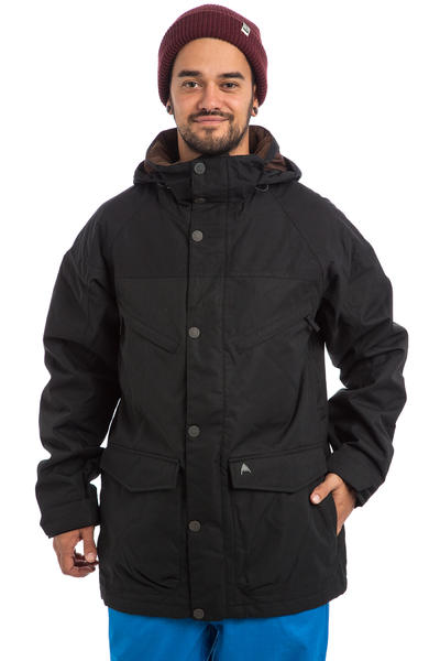 Burton Frontier Snowboard Jacket (true black waxed)