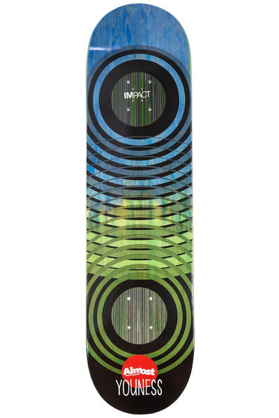 "Almost Youness OG Trans Rings Impact 8"" Deck (green)"