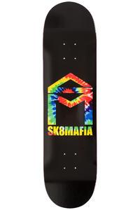 "Sk8Mafia House Logo 8.125"" Deck (black tie dye)"