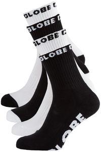 Globe Quarter Socken US 7-11 (black white) 5er Pack