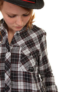 Mazine Sirah Shirt women (white black checked)