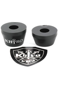 Khiro 95A Tall Cone Lenkgummi (black)