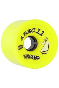 ABEC 11 Retro Big Zigs 75mm 83a Rollen (lemon) 4er Pack