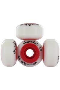 Chocolate Chunk Core 52mm Wheel 4er Pack  (white red)