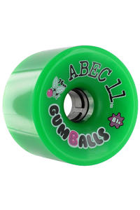 ABEC 11 Gumballs 76mm 81A Wheel 4er Pack  (green)