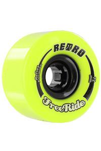 Retro Freeride 72mm 83A Rollen (lemon) 4er Pack