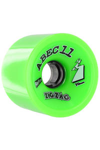 ABEC 11 Retro Zig Zags 70mm 80a Wheel (lime) 4 Pack