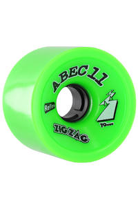 ABEC 11 Retro Zig Zags 70mm 80A Wheel (lime) 2 Pack