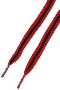 Mr. Lacy Stripies Schnürsenkel (red black)