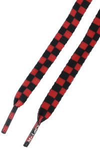 Mr. Lacy Printies Schnürsenkel (red black checkered)