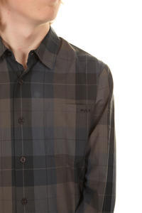 RVCA Opie Plaid Shirt (black)