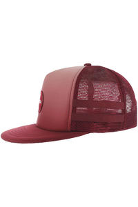 RVCA Blithe Fade Trucker Cap (red grease)