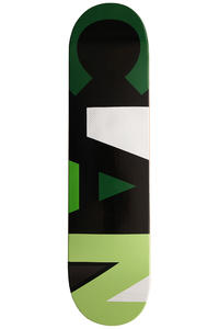 "Clan Skateboards Full Colors 7.75"" Deck (green black)"