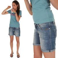REELL GRL Denim Shorts women (marble light blue)