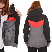 Mazine Smiley 2 Zip-Hoodie women (black signal red)